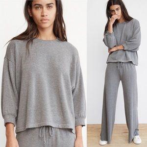 VELVET Luxe Fleece Puff Sleeve Top - Size Small